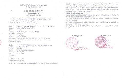 Hợp đồng ký kết với công ty du lịch hàng đầu Việt Nam