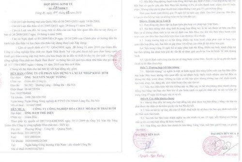 Hợp đồng cung cấp thiết bị PCCC hàng đầu Việt Nam