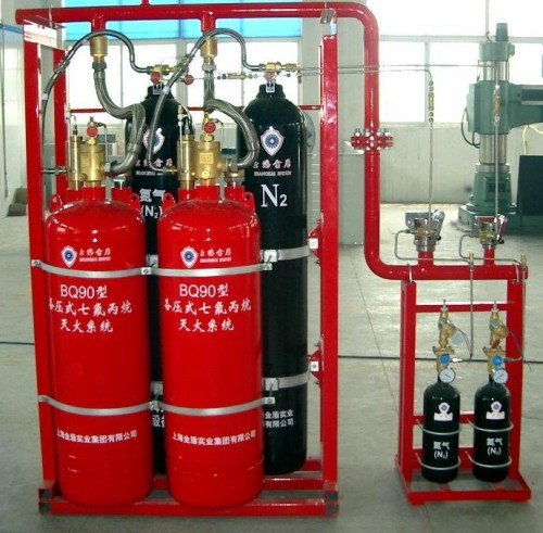 Hệ thống PCCC có các bình chữa cháy bằng khí Nito
