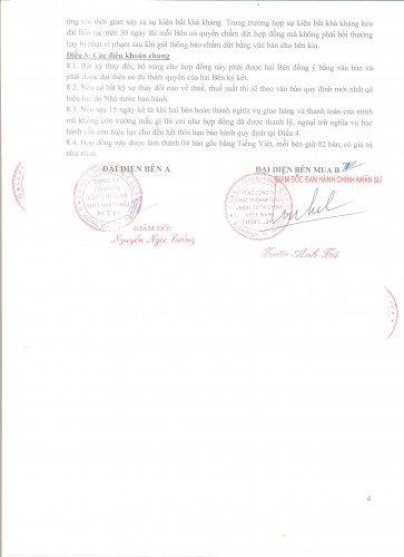 Hợp đồng đã ký kết thành công tốt đẹp