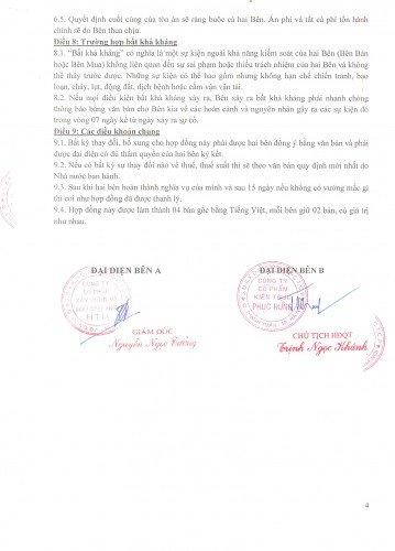 Hợp đồng đã được ký kết thành công
