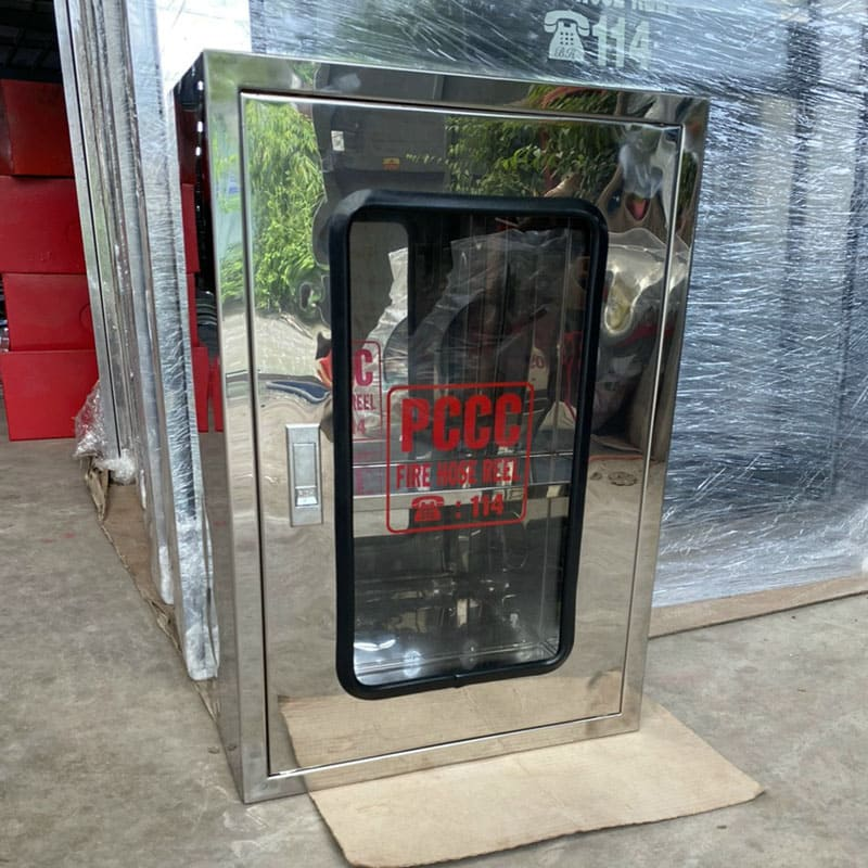 Hộp đựng cuộn vòi chữa cháy inox 304 mới