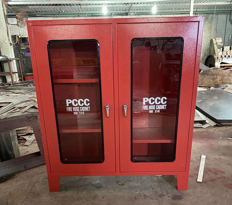 Tủ đựng vòi chữa cháy 4 ngăn ngoài trời 1100x1000x1.0mm